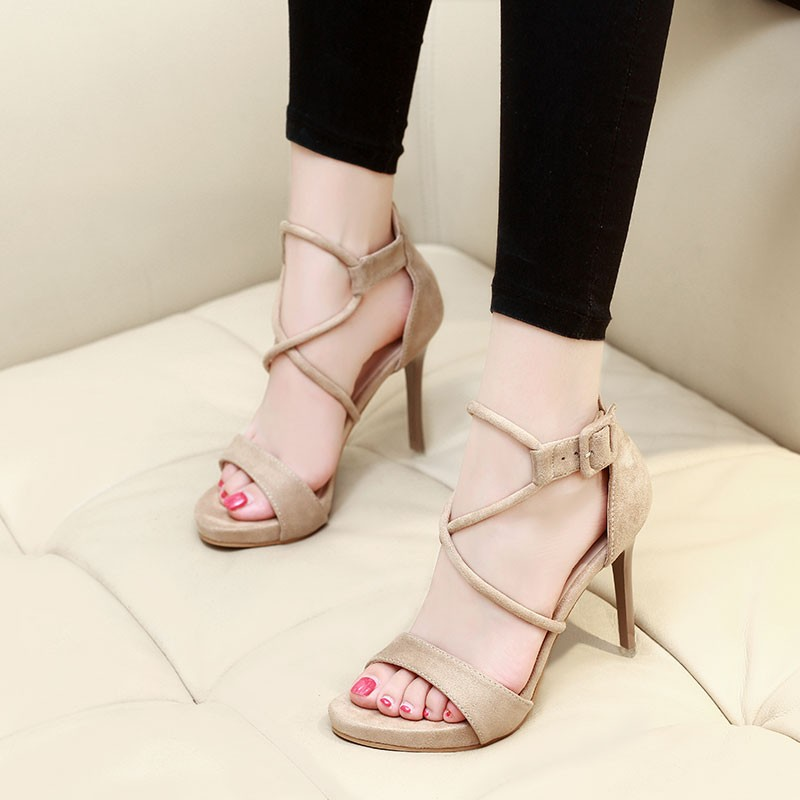 7f728f707429 Flock Sandals Summer 2018 Sandals Plus Size 34-39 Ankle Strap Thin ...