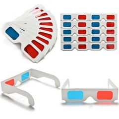 Universal Anaglyph Cardboard Paper Red &amp Blue Cyan 3D Glasses For Movie