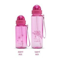 400/560 ML Plastic Water Bottle with Straw and Rope Portable BPA Free Kids Water Bottle Leak Proo
