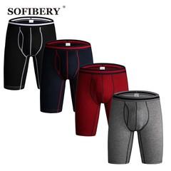 brand 4pcs/lot men's underwear long underwear men boxers men's shorts SOF1103 multi L