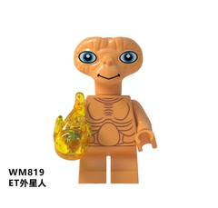 Movie Extra-Terrestrial Character E.T. Science Fiction Family Godzilla Action Figures Building Bl