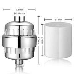 Stage In-line bathroom Shower Filter bathing water filter purifier water treatment Health softene