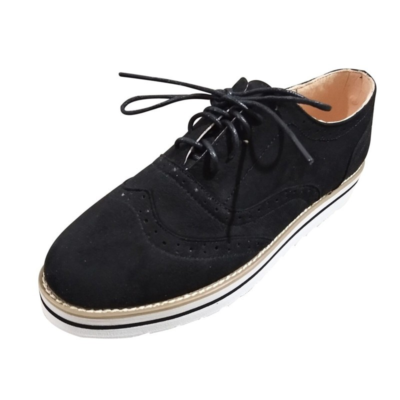 8c530dce18b Item specifics  Seller SKU LnklzHuIQG8  Brand  women Suede Leather Flats  oxford shoes Spring Ladies sneakers Loafers Casual Shoe ...