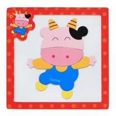 Wooden Magnetic Jigsaw Puzzles Educational Developmental Toy For Kids Children 3D Magnetic Puzzle