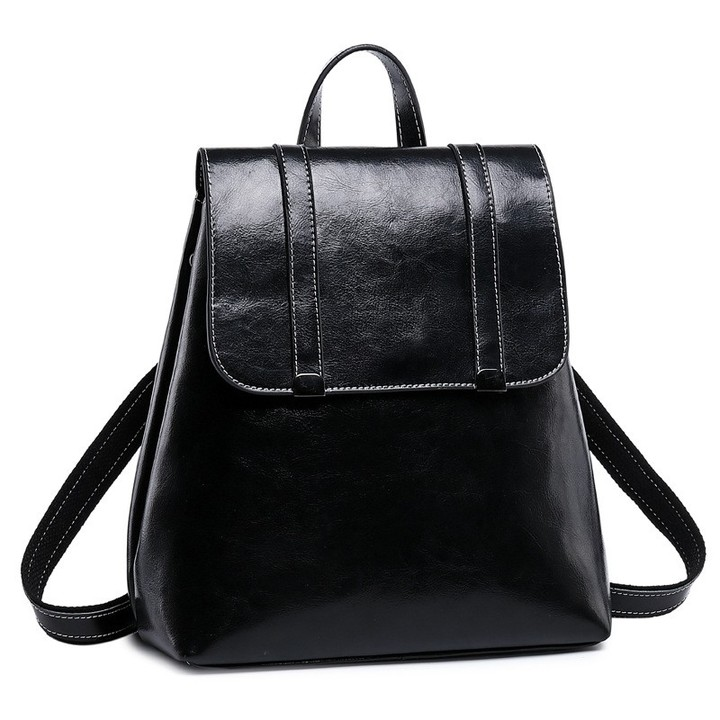 af0f9566bb High Quality Genuine Leather School Bags For Teenage Girls Travel ...