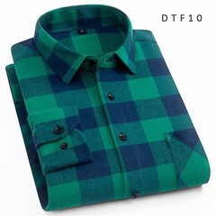Recommend Pure Cotton flannel long sleeve mens casual shirts comfortable soft warm Plaid Regular