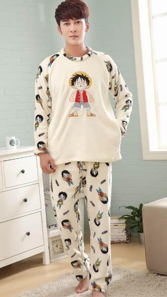 65b0d0d6cf4b coral fleece sleepwear 2018 new winter male pajama sets long-sleeve ...