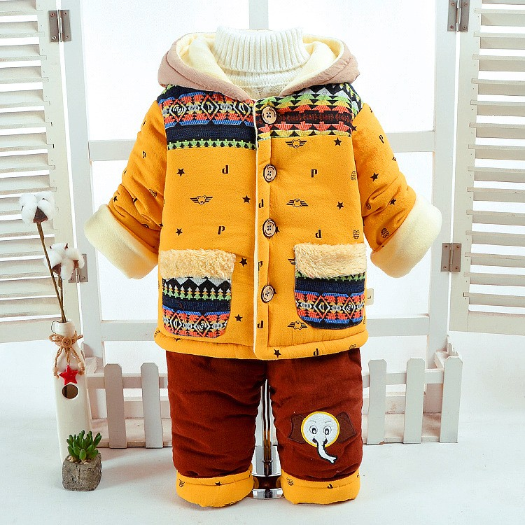 f5d03dac97876 Winter Fall Infant Newborn Clothes Sets Baby Boys Warm Suits Cotton ...