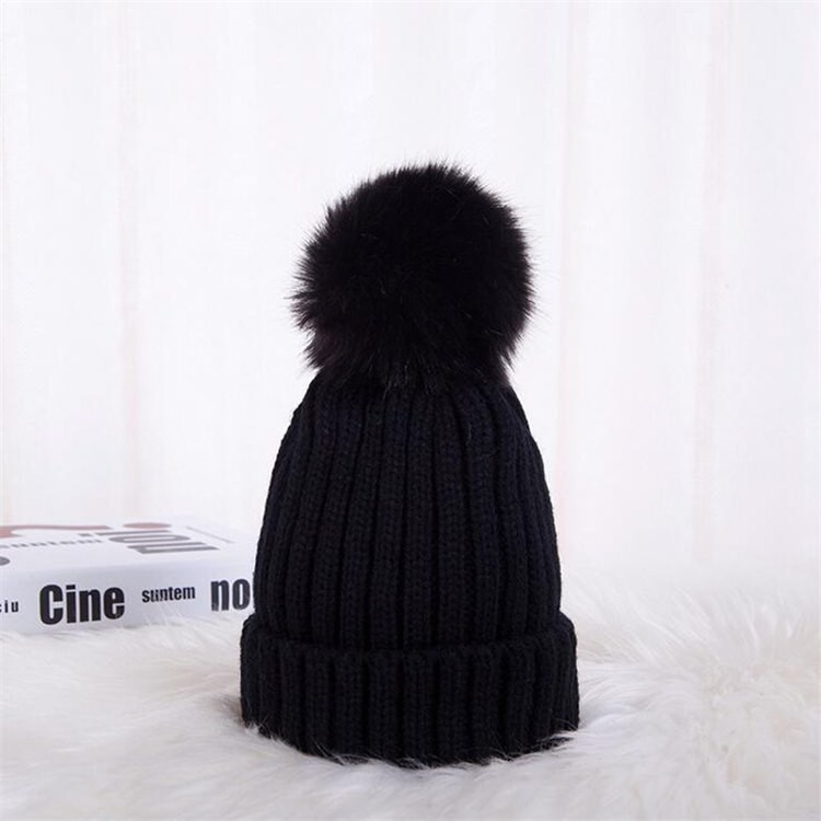 and winter New hair ball childrens warm wool hats Wild fashion knit ... 43d33282532