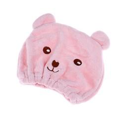 Hot 1pc Cute Bear Shower Cap Hair Wrapped Towels Microfiber Bath Hats Dry Hair Cap Quickly Dry Ha