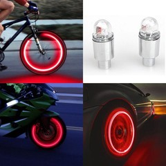 LED Tire Valve Stem Caps Neon Light Auto Accessories Bike Bicycle Car Auto  Valve Cap Neon LED Fl