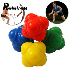 level Silicone Hexagonal Reaction Ball Agility Coordination Reflex Exercise Training Ball Sports