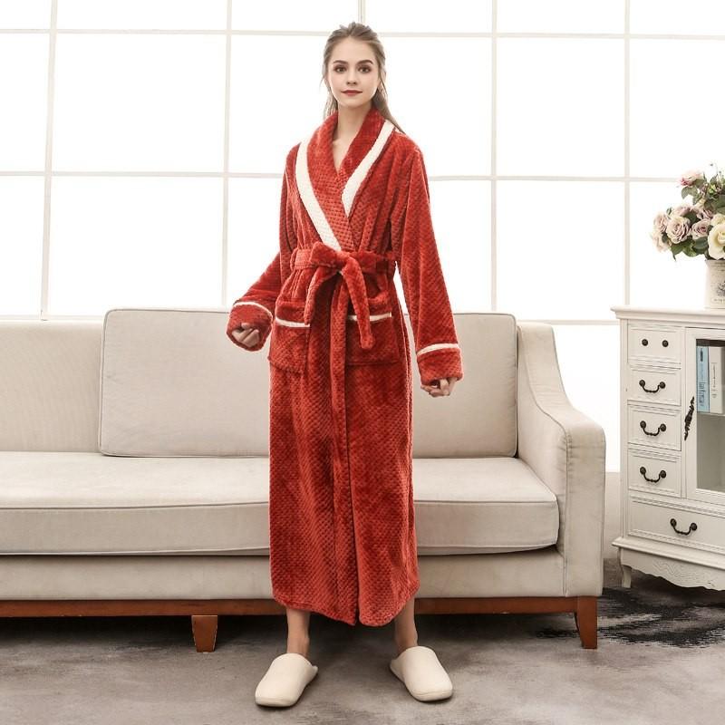 ... Flannel Bathrobe Women Men Thick Warm Winter Bath Robe Bridesmaid Dressing  Gown W  Product No  10497430. Item specifics  Seller SKU VvlCXHcbNuw  Brand  fe811e155