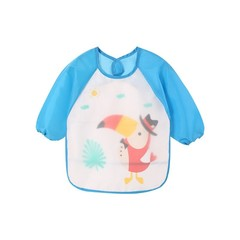 Cute Baby Feeding Burp Clothes Bibs with Long Sleeves For Kids 42*34cm