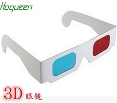 5000pcs* Paper 3D glasses red blue 3D paper  Frame glasses fast DHL shipping