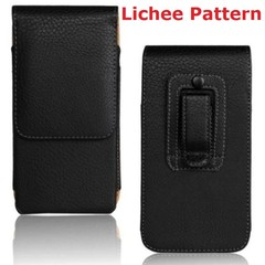 Belt Clip PU Leather Waist Holder Flip Pouch Case for ZTE Axon 9 Pro