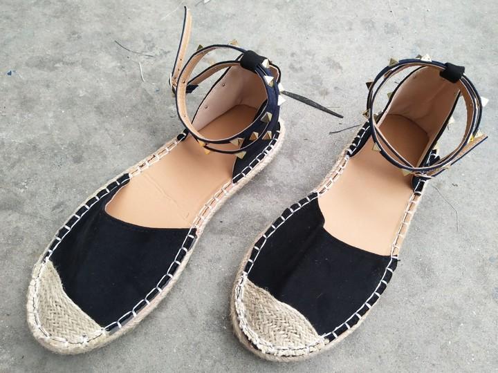 7e61e8a2481 2018 summer women Large size sandals female twine fashion shoes rivet  sandals for women ladies