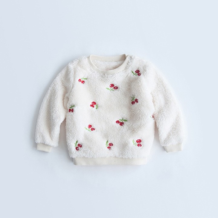 841d65d61 Baby Girls Sweatshirts Spring Autumn cartoon Pattern Plus Velvet ...
