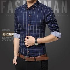 Plaid M en Shirts Plus  Fashion High Quality Mens Dress Shirts Business Brand Clothing Social Ca
