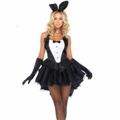 2018 New Fashion Women Halloween costumes Bunny girl Costumes Women rabbit cosplay costumes Free