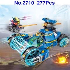 277pcs Technic Electromagnetic Wheel Chariot Enlighten Building Blocks