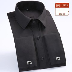 arrival high quality Cufflinks long Sleeved Tuxedo Shirts Formal Striped cototn fashion plus size