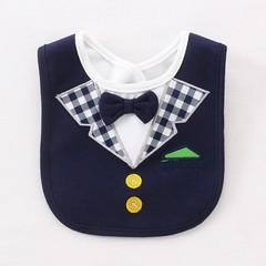Bibs 3 Layers Waterproof Babys Tuxedo Bibs Kids Dinner Feeding Bib Saliva Towel Child Red Bow Tie