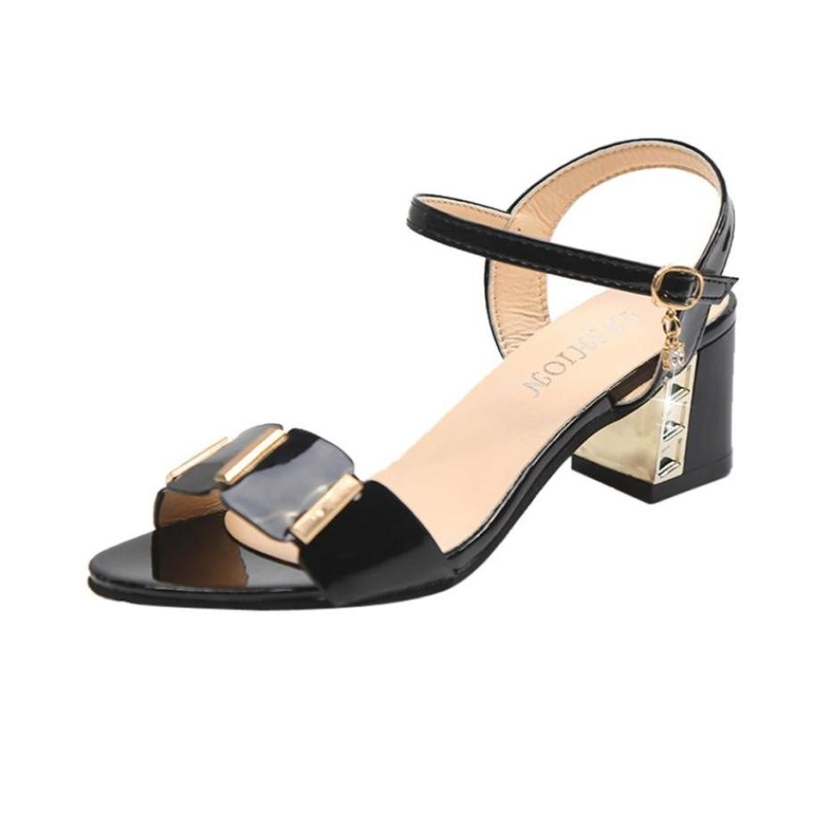 89b4cb2432e Item specifics  Seller SKU JneIacnfRDC  Brand  Fashion Summer Women Ladies  Sandals Size 36-43 Ankle Mid Med Heel Block Party Open Toe Shoes ...