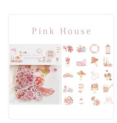 Pack Kawaii Vintage Colored House Paper Travel Diary Planner Decorative Mobile Stickers Scrapbook