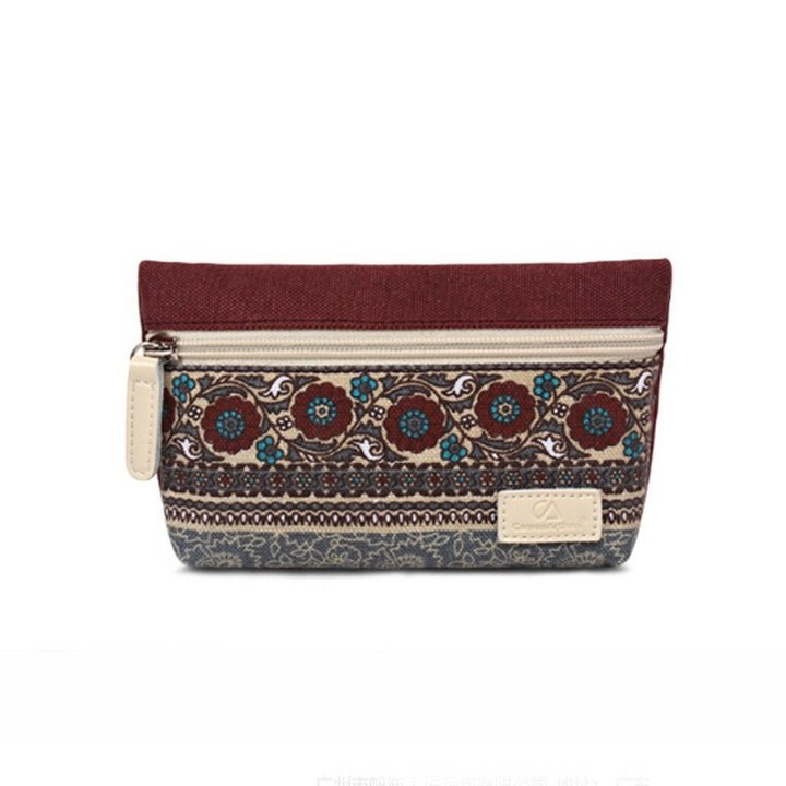 Women Ladies Cloth Zipper Wallet Clutch Card Holder Coin Purse Small Handbag CHG