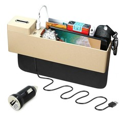 Car Seat Crevice Storage Box 4 Color Plastic Cup Drink Holder Stowing Tidying For Phone Pad Card