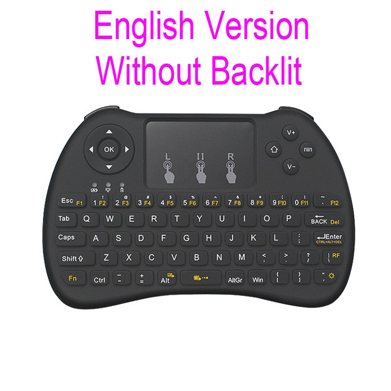 be67f492b47 H9+ Backlight H9 2.4G Wireless English Russian Keyboard Backlit with ...