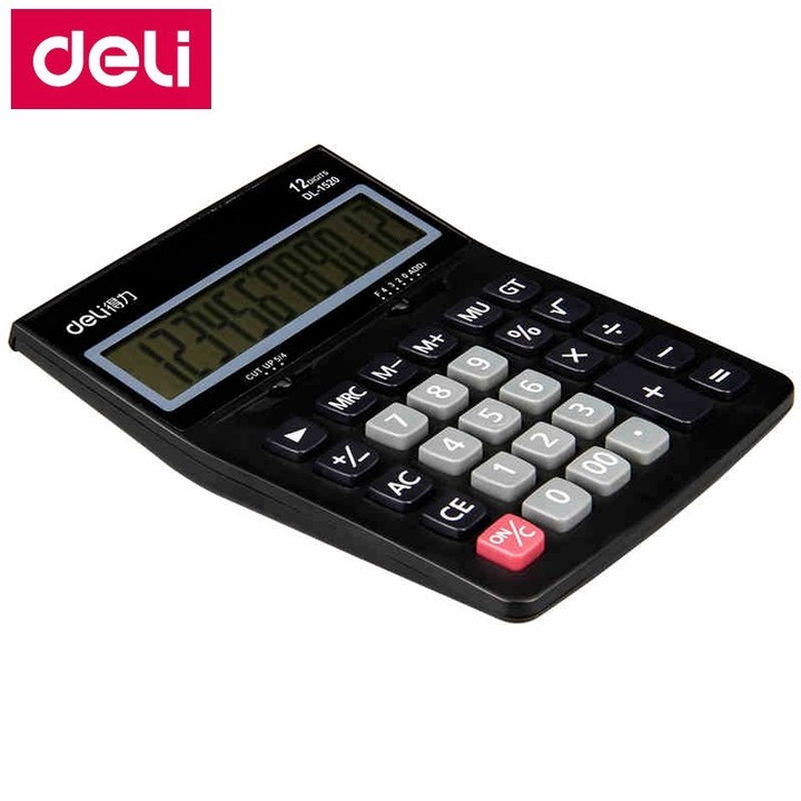 1520 office financial Electronic calculator 12 digit dual power calculator include coin  battery
