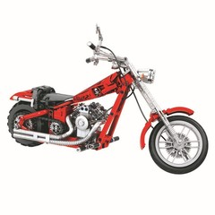 568pcs Technology Series 7046 Harley Motorcycle Building Block Bricks Birthday Christmas Toys For