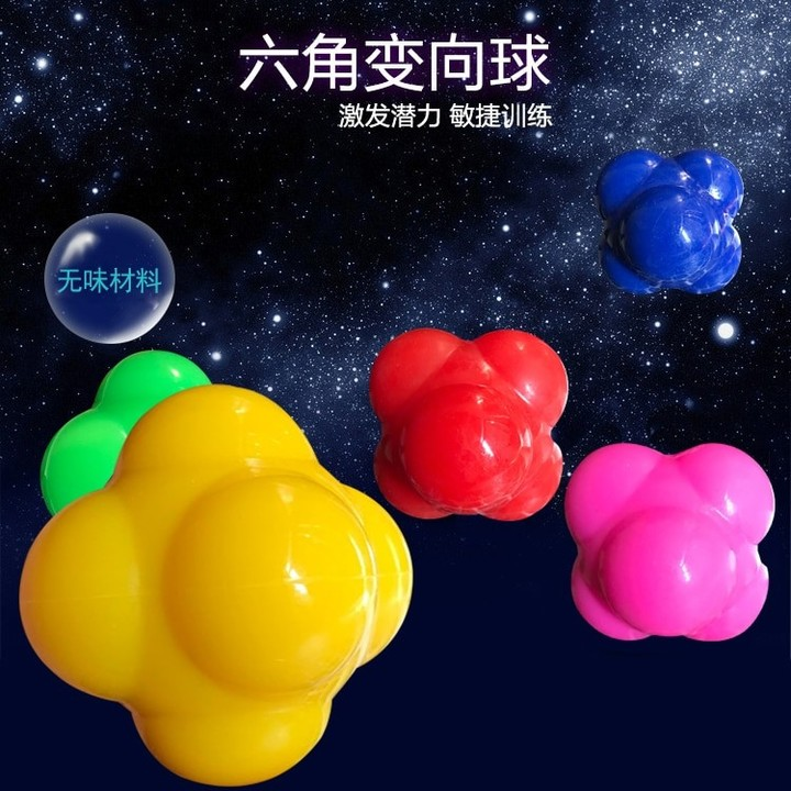 Color Silicone Reaction Ball Fast Speed Agility Coordination Reflex Exercise Training Sensitive G