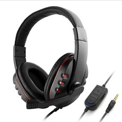 Headphone Earpiece Casque Deep Bass Computer Gaming Headset with Mic for PS4/XBOX-ONE/PC Game Ear