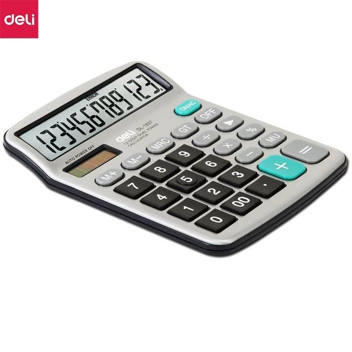 Calculator 1837 Desktop Office Calculator Solar Dual Energy Computer