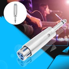 Male to XLR Female Converter Single Track Audio Jack to XLR Female Adapter for Microphone Speaker