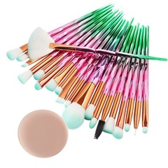 New 20PCS Make Up Foundation fashion Eyebrow Eyeliner Blush Cosmetic Concealer Brushes wool fiber