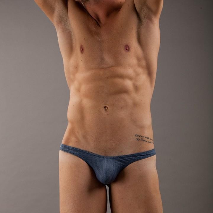 Men Underwear Mesh Low waist  Thong G-string Jockstrap Breathable Male T Pants Erotic Underpant G