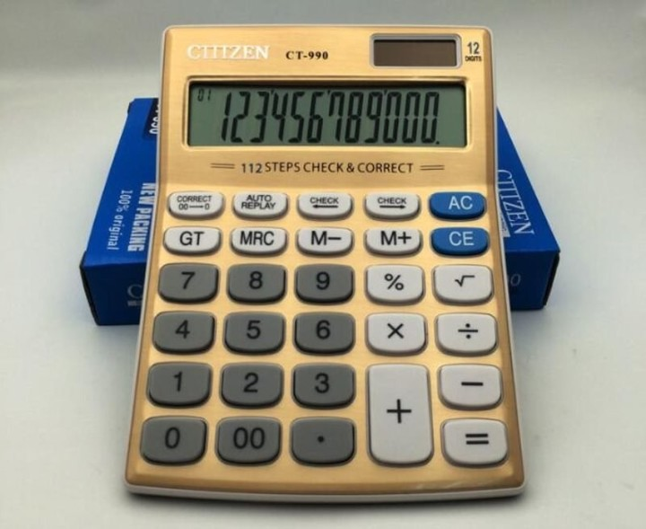 12 Digits Office Calculator CT-990 Solar Calculators Office School  Stationery Gift For Student