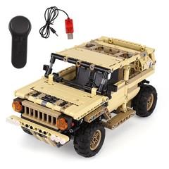 13009 Military Toys Series The Military SUV Car Set Building Blocks Bricks Remote Control Car Kid