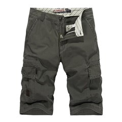 Tactical Military Outdoor Male Sports Overalls Straight Beach Trousers Men  Hiking Shorts No Belt