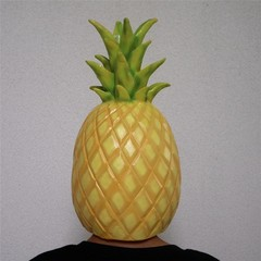 Pineapple Mask Cosplay Costume Halloween Masks Funny Full Face Latex Fancy Mask Dress Up Props Gi