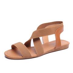 2019 Women's Sandals Spring Summer Ladies Shoes Low Heel Anti Skidding Beach Shoes brown 40
