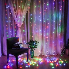3X3M 6X3M Window Curtain String Light Christmas Icicle Fairy Light String Outdoor Wedding Party W