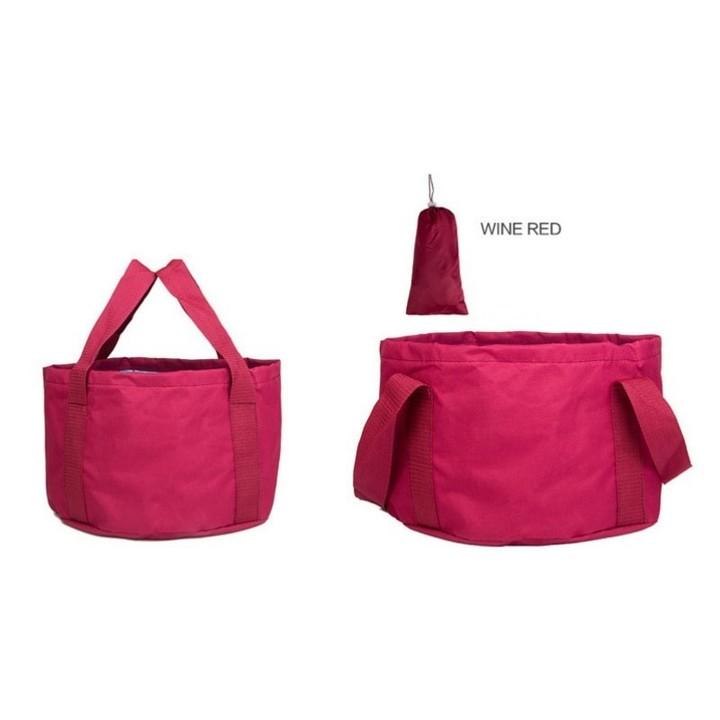 Multi-function travel outdoor portable bucket Car portable bucket Folding Large capacity lock wat