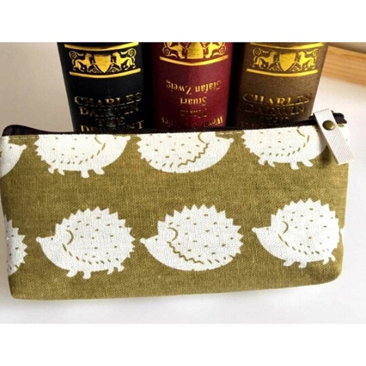 Stationery National wind cotton and linen bags Pencil Cases Cute Pencil bag Box office and school