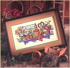 Collection Lovely Counted Cross Stitch Kit I Love Gardening Garden Flowers Flower dim 265 00265