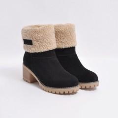Winter Boots Women Plus Size Snow Boots Women Shoes 2018 Fashion Flock Plush Warm Slip On ankle b